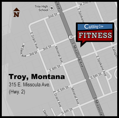 Map to Cutting Crew Fitness
